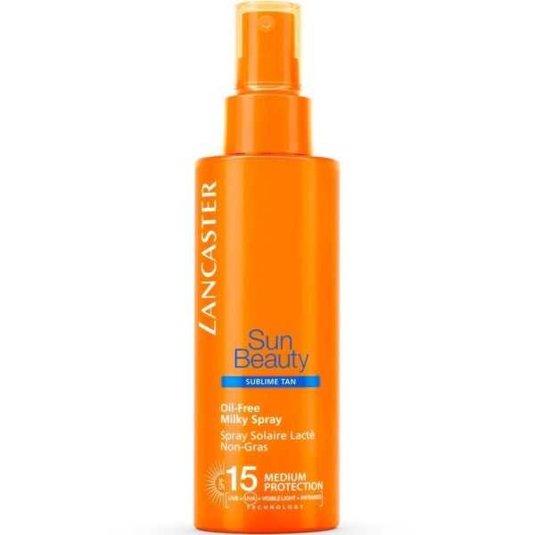 Latte Spray Sun Beauty Oil Free SPF 15 Sublime Tan di Lancaster www.crystalprofumi.it