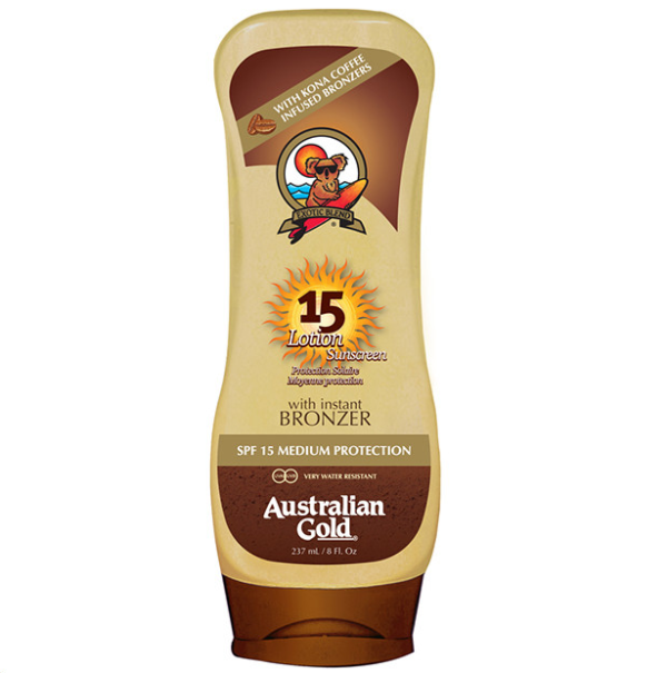 Lotion Sunscreen Bronzer SFP 15 di Australian Gold www.crystalprofumi.it