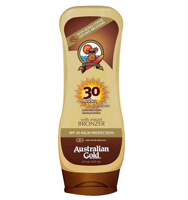 Lotion Sunscreen Bronzer SFP 30 di Australian Gold www.crystalprofumi.it